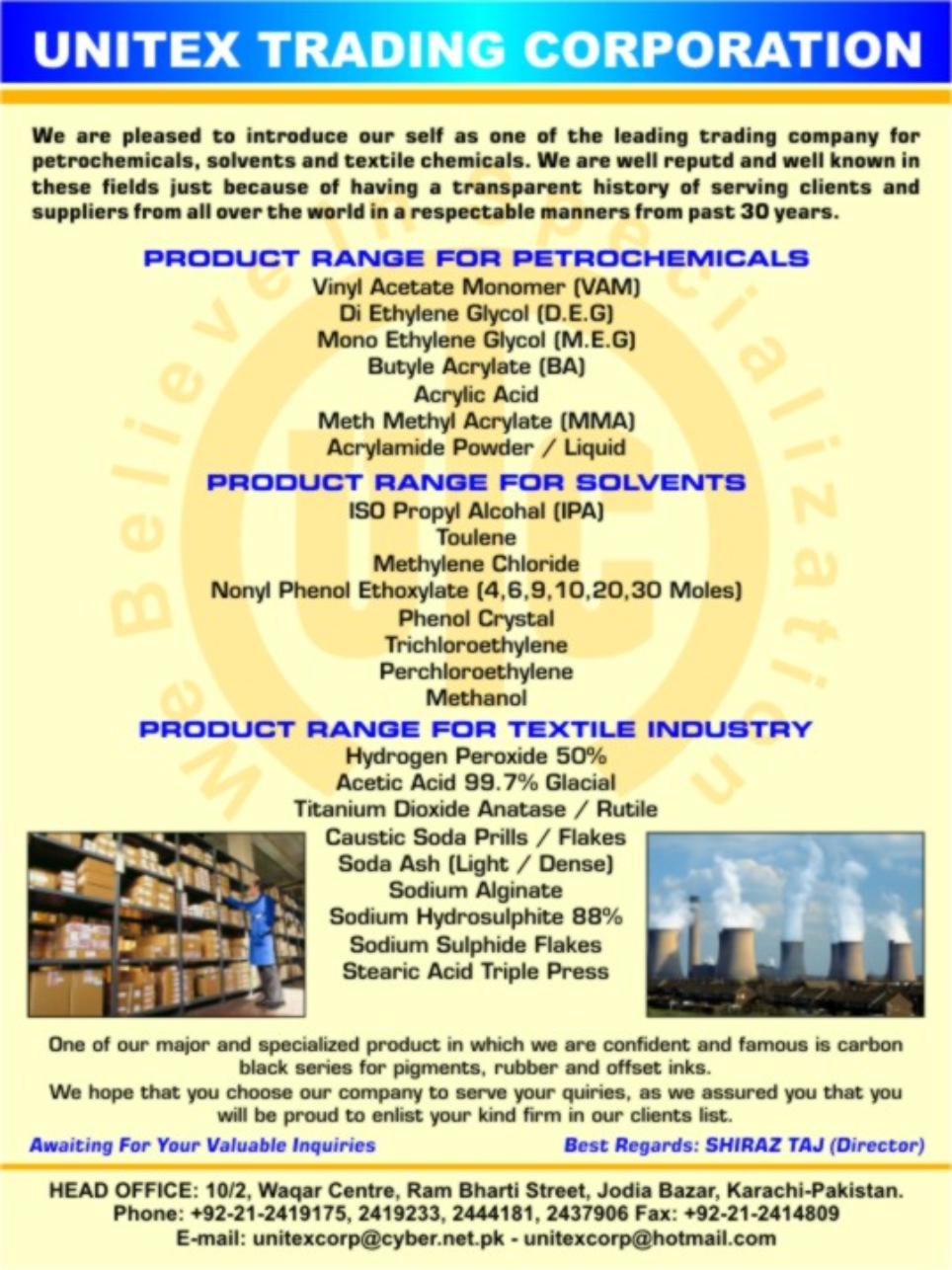 PCDPK COM ::   Source of Chemicals, Dyes & Related Products